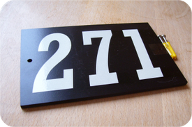 Three digit reflective plaque price £22.00