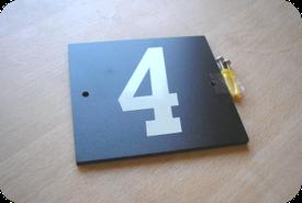 Single digit reflective plaque price £12.00