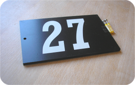 Two digit reflective plaque price £15.00
