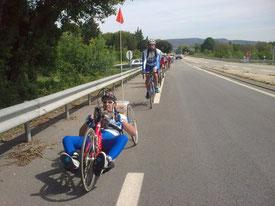 Début de la montée vers Pouzilhac