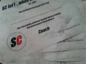 SC Int'l - Street Combatives - Unarmed Combatives Coach Certification Course - Instructor -Trainerausbildung