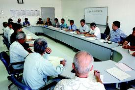 石垣市干ばつ対策会議が開かれた=30日午後、JA八重山地区本部