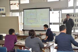 障がい者自立支援協議会対象とした新庁舎建設での説明会が開かれた=14日、石垣港ターミナル