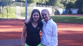 Katharina Bitter und Sophie Feldmann waren siegreich im Doppel