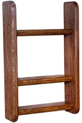 полка деревянная угловая навесная настенная
