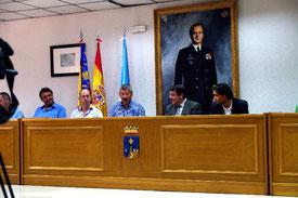Bürgermeister Brunner richtet die Grüße der Blaskapelle Meeder und der Region Coburg an die Stadt Torrevieja