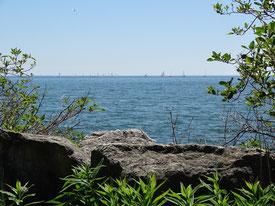 Blick auf die Segelboote am Lake Ontario
