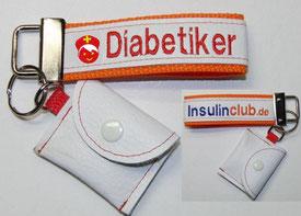 Schlüsselanhänger Diabetiker / Notfallset