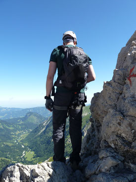 Ich an einem Klettersteig