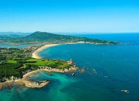 Vue sur la côte basque