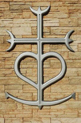 Croix de Camargue effet métal clair