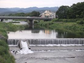 夕暮れの高野川
