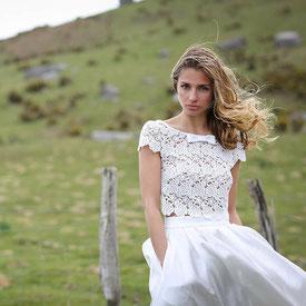 Boho-Hochzeitskleid