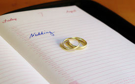 Letzter Check vor der Hochzeit.