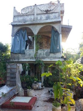 Mexique 2014 : maison en pleine jungle près de Valadolid