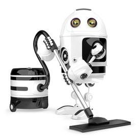 Staubsauger Roboter bei der Arbeit