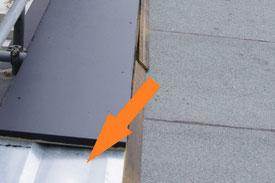 Dachrandbohle mit Konstruktionsblech
