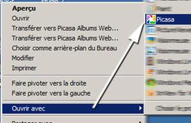 Ouvrir une image avec Picasa