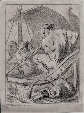Charles Parrocel, Etudes de soldats, les rameurs, 16,4 x 12,2