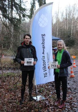 Belegten jeweils Platz 2 in der Serienwertung: Jonas Sandner und Johanna Maier