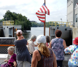 Troy Locks open up for us to sail back to Albany