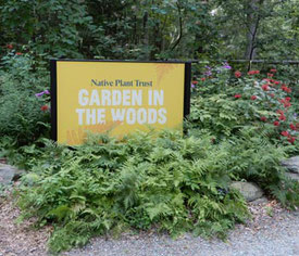 Garden in the Woods Welcomed us - here the sign at the entry area