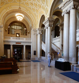 The Gleaming Marble Foyer of the State Museum
