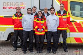Das Team der DEHiG - RETTUNGSDIENST UG