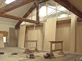 Architekturbüro Silke Hopf Wirth & Toni Wirth Architekten ETH HTL SIA Winterthur, Einbau Künstlerateliers in Winterthur, Kulturstiftung Winterthur