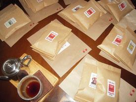 発送準備の整ったコーヒーたち