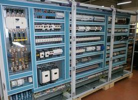 Armoire automatisation coffret câblage commande puissance contacteur relais disjoncteur raccordement automatisation automate métallique polypropylène