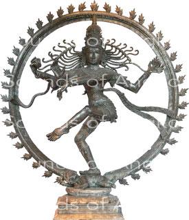 Shiva-Naṭarāja ou « Roi de la danse », dansant dans la posture de nadānta tāṇḍava après la soumission des sages hérétiques de la forêt de Tāragam. Tropenmuseum, Amsterdam.
