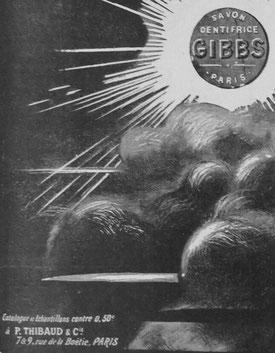 Extrait d'une publicité de 1918