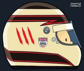 Helmet of Max Chilton by Muneta & Cerracín