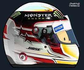 Helmet of Lewis Hamilton by Muneta & Cerracín