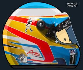 Helmet of Fernando Alonso by Muneta & Cerracín