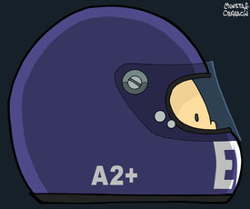 Helmet of Bob Evans by Muneta & Cerracín