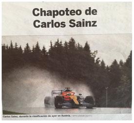 Chapoteo de Carlos Sainz en El País