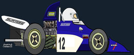 Tim Schenken by Muneta & Cerracín - Surtees TS9B - 1972