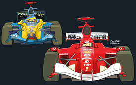 Alonso & Schumacher by Muneta & Cerracín