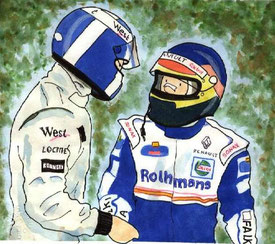 Coulthard & Villeneuve by Muneta & Cerracín