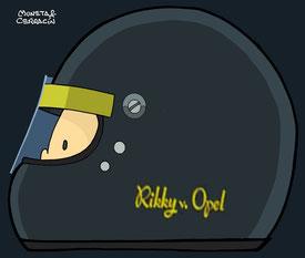 Helmet of Rikky (Frederick) von Opel by Muneta & Cerracín