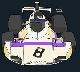 Frederick von Opel by Muneta & Cerracín - Brabham BT 44 - Ford Cosworth