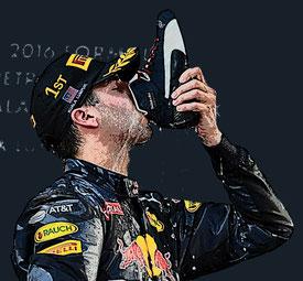 Daniel Ricciardo del Red Bull Racing