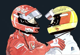 Michael & Ralf Schumacher by Muneta & Cerracín