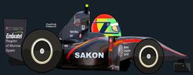 Sakon Yamamoto by Muneta & Cerracín - HRT F110 - Cosworth V8