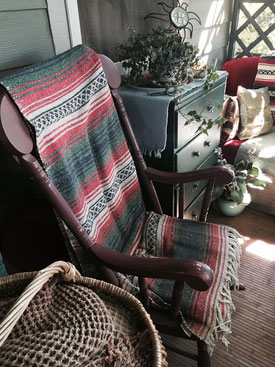 Rocking chair on a porch