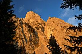 Säuling , Abendrot , Alpen , Gipfel , Berge , Hütte , Säulinghaus , Wandern , Hüttentour , Bergtour , Trekking , Österreich , Mountains , Hut , Trekking
