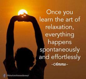 L'art de la relaxation, de la spontanéité et du non-effort