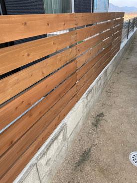 杉板フェンス